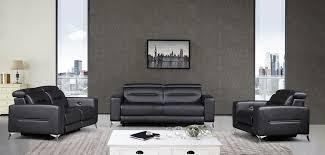 ensemble canapé canapé relax électrique en cuir doa noir destockpro