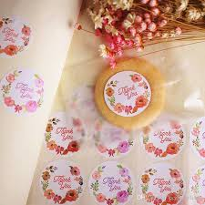 commercial wrapping paper colorful seal label sticker thank you gift tags marks wedding