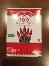 100 count mini lights holiday time 100 count red mini light set green wire indoor outdoor