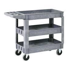 home depot utility shelves sandusky heavy duty 40 in x 17 in 3 shelf utility cart with 5 in