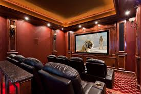 home theater soundproofing beautiful traditional red home theater conversion by starlight