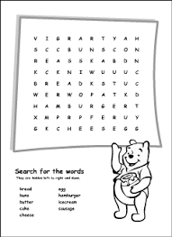 food vocabulary for kids learning english printable resources