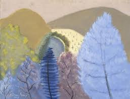 milton avery 1885 1965 blue trees 1945 oil on canvas 28 x 36 inches collection neuberger museum of art purchase college state university of new york