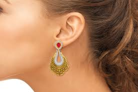 earing model antique gold plated earring for and women