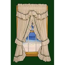 Ruffled Priscilla Curtains Amazon Com Lucy Country Style Ruffle Priscilla Curtains Pair 86