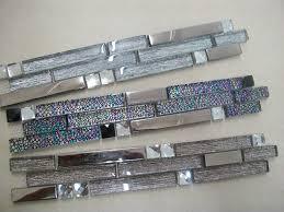 Glass Mosaic Border Tiles Interlocking Glass Mosaic Border Tiles Mirror Glass Mix 3