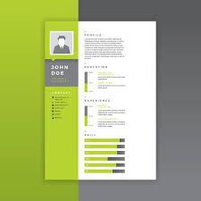 graphic design resumes graphic designer resume green vector free vector