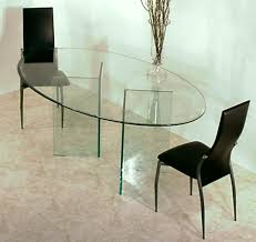 all tempered glass pedestal for oval glass top dining table of