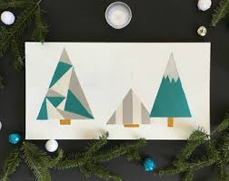 Decorative Christmas Trees Modern by Modern Holiday Decor Etsy