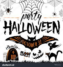 vector illustration halloween celebration poster halloween stock
