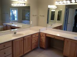 makeup vanity with sink amazing what are the dimensions of l shaped vanity sink to with