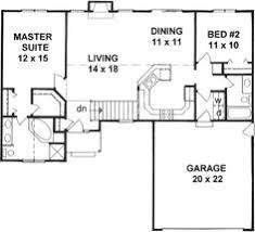 Small 2 Bedroom House Floor Plans Style House Plans 1218 Square Foot Home 1 Story 2 Bedroom And