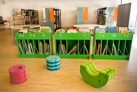 stunning kids library furniture unique bench bookshelves design