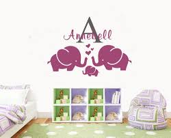 compare prices on names boys online shopping buy low price names cartoon personalized name elephant kids room wall decal girls boys nursery room decor vinyl wall sticker