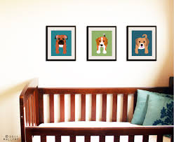 dog prints dog nursery art prints custom modern puppy