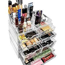 Makeup Desk Organizer Sorbus Acrylic Cosmetics Makeup And Jewelry Storage