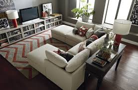 charming u shaped couch with ottoman style u2014 pavillion home designs