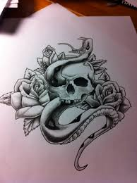 skull snake and roses point blank industries