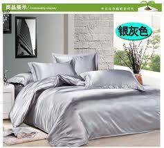Silver Comforter Set Queen Silver Silk Bedding Sets Cbaarch Com