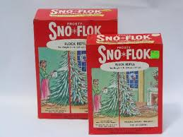 vintage artificial snow flake sno flok tree spray flocking
