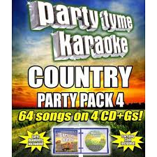 Party Tyme Karaoke Christmas Pack - party tyme karaoke country party pack 4 walmart com