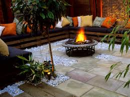 backyard fire pit area home outdoor decoration