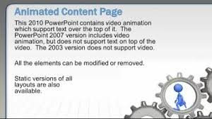 element layout template is not supported running the gears a powerpoint template from presentermedia com