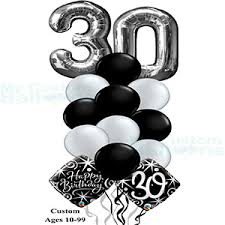 30th birthday balloon bouquets age balloon bouquets archives my custom balloons