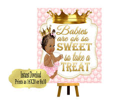 Baby Shower Candy Buffet Sign by Printable Princess Baby Shower Candy Buffet Sign Prints 16x20