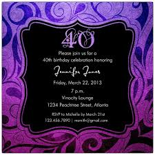 brilliant emblem 40th birthday invitations paperstyle