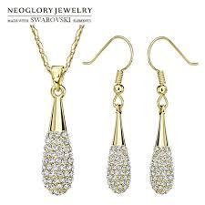 swarovski earring necklace set images Neoglory made with swarovski elements rhinestone jewelry set jpg