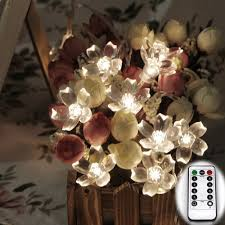 remote control battery lights remote control battery powered 6m 60led cherry blossom christmas led