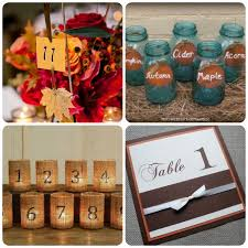 table numbers with pictures fall wedding table numbers uniquely yours wedding invitation
