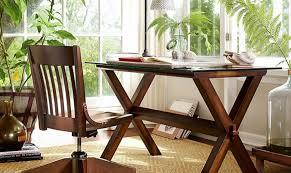Trestle Computer Desk 15 Home Offices Featuring Trestle Tables As Desks