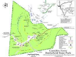 Virginia State Parks Map Carnifex Ferry Battlefield Maplets