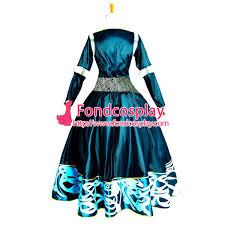 brave princess merida dress movie costume cosplay tailor