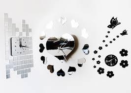 modern clock u0026 mirror wall art