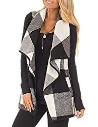Plaid Cardigan Womens Womens Sweater Vests Amazon Com