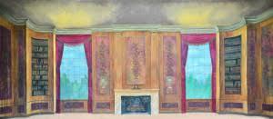 Bookcase Backdrop Victorian Parlor With Bookshelves Backdrop Grosh Backdrops