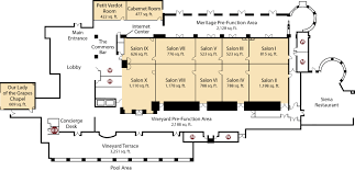 Floor Plans For A Restaurant by Award Winning Conference Center Napa Venue The Meritage Resort
