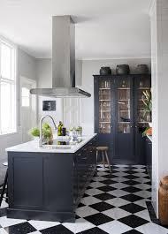 carrelage cuisine damier noir et blanc inspiration déco carrelages originaux carrelage mosaique