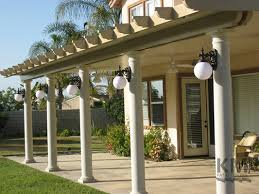 Patio Column Lights Aluminum Patio Covers Patio Design And Installation Awnings