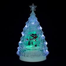 transparent christmas tree with led light u0026 moving snowman