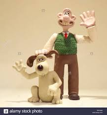 wallace gromit characters waving models