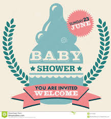 Baby Shower Invitation Card Baby Shower Invitation Card Stock Photography Image 34791852