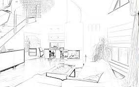 interior design sketches kitchen interior design