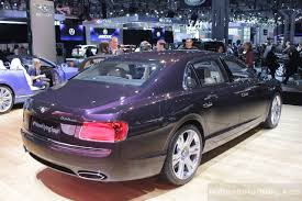 bentley flying spur rear bentley continental flying spur revealed for the us market