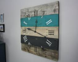 wood clock etsy