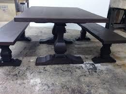 handmade ebony trestle dining table u0026 benches by santini custom