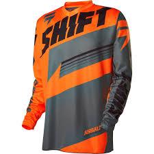 shift motocross gear shift assault jersey 2016 orange sunstate motorcycles